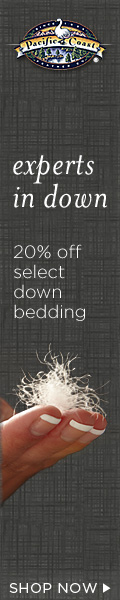 20% off Select Down Bedding at Pacific Coast.