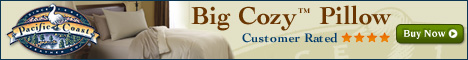 Big Cozy Pillow is rated 4 stars at Pacific Coast®